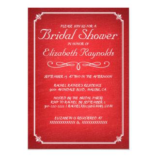 Chalkboard Red & White Bridal Shower Invitations