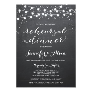 Chalkboard Rehearsal Dinner Invitation