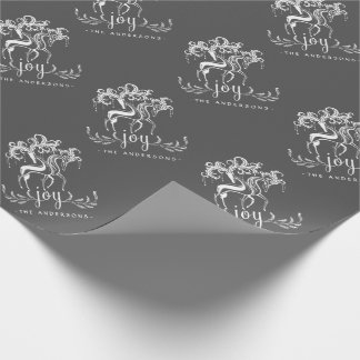 Chalkboard Reindeer Joy Christmas Holiday Wrapping Wrapping Paper
