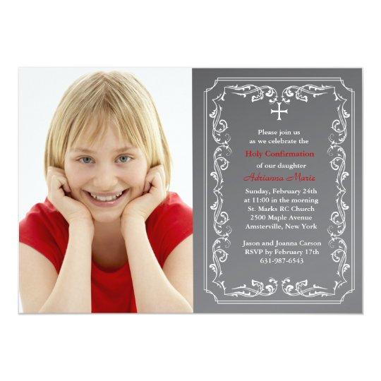 Chalkboard Religious Photo Invitation