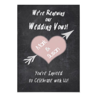 CHALKBOARD RENEWING WEDDING VOWS INVITATION