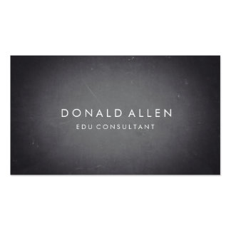Chalkboard Retro Black Professional Educational Double-Sided Standard Business Cards (Pack Of 100)