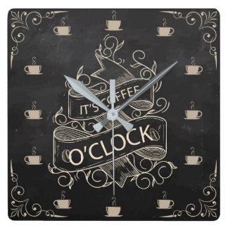 Chalkboard Retro Coffee Clock Wall Clock