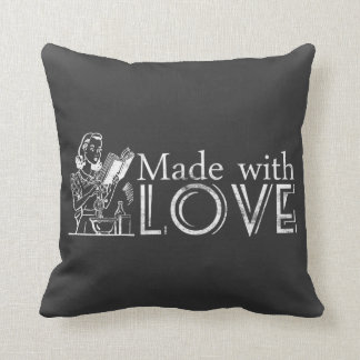 Chalkboard Retro Kitchen Made With Love Pillows