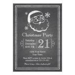 Chalkboard Retro Santa Invite