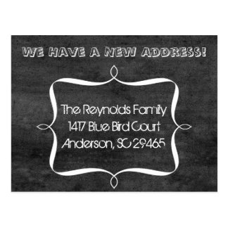Chalkboard Ribbon New Address Moving Announcement Postcard