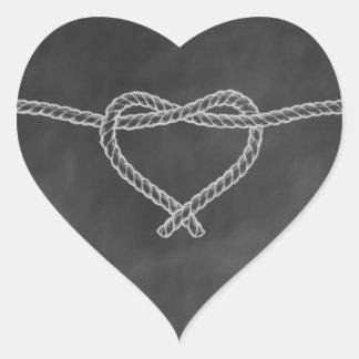 Chalkboard Rope Heart Sticker