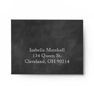 Chalkboard RSVP Envelope.