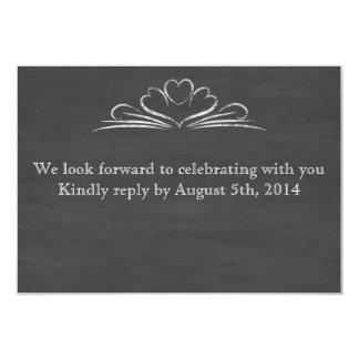 Chalkboard RSVP 3.5x5 Paper Invitation Card