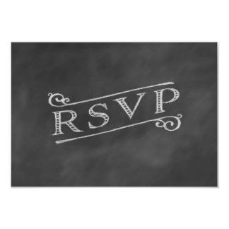 Chalkboard RSVP Custom Announcement