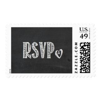 Chalkboard RSVP Stamp