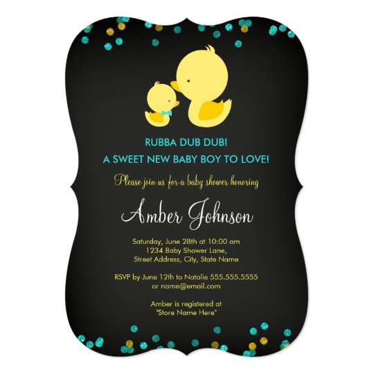 Chalkboard rubber duck baby shower invite zazzle chalkboard rubber duck baby shower invite stopboris Images