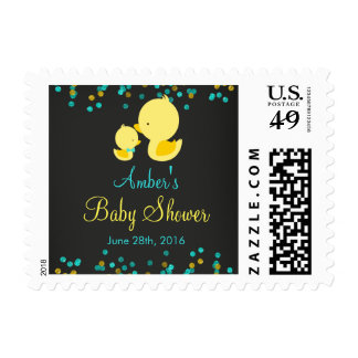 Chalkboard Rubber Duck Baby Shower Stamps
