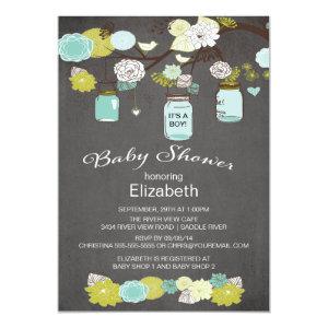 Mason Jar Baby Shower Invitations Cute Baby Shower Invitations