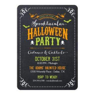 Chalkboard Rustic Spooktacular Halloween Party