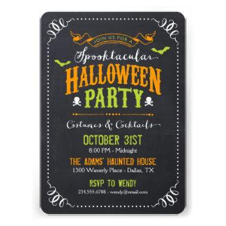 Chalkboard Rustic Spooktacular Halloween Party Invites