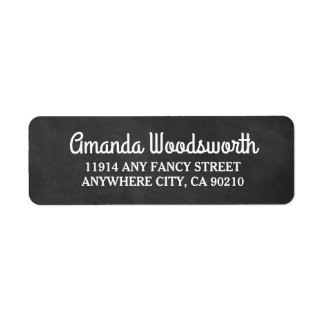 Chalkboard Rustic Wedding Return Address Labels