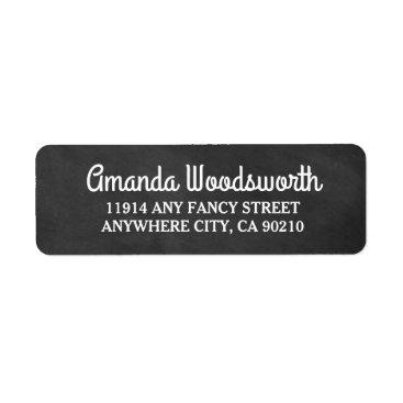 rusticweddings Chalkboard Rustic Wedding Return Address Labels