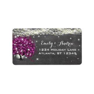 Chalkboard Sangria Wine Heart Leaf Tree Label
