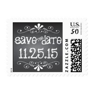 Chalkboard Save the Date Custom Postage