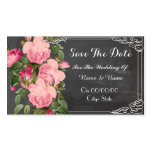 chalkboard save the date Double-Sided standard business cards (Pack of 100)