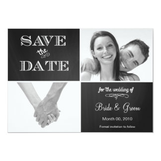 Chalkboard Save the Date Photo Announcement 5x7