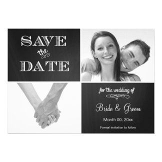 Chalkboard Save the Date Photo Announcement