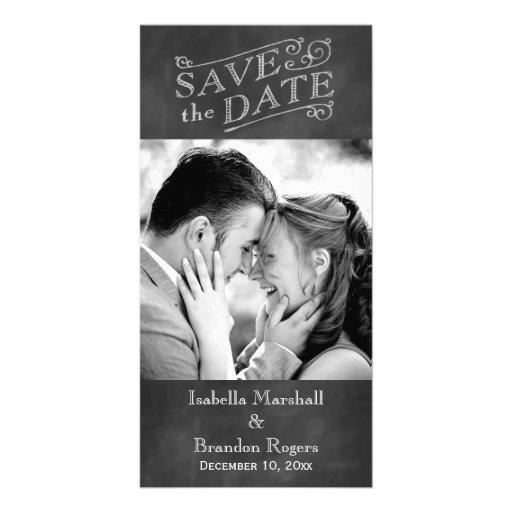 Chalkboard Save the Date Photo Card