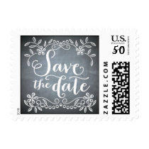 Chalkboard - Save the Date Postage