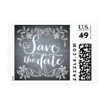Chalkboard - Save the Date Postage Stamp