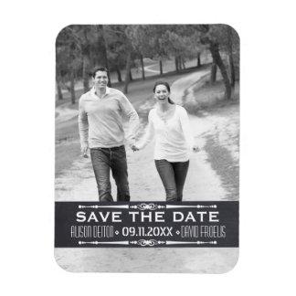 Chalkboard Save the Date simple wedding photo Rectangular Photo Magnet