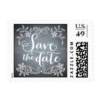 Chalkboard - Save the Date Stamps