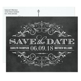 Chalkboard Save the Date | Swirl and Flourish Card