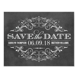 Chalkboard Save the Date | Swirl and Flourish Custom Announcement