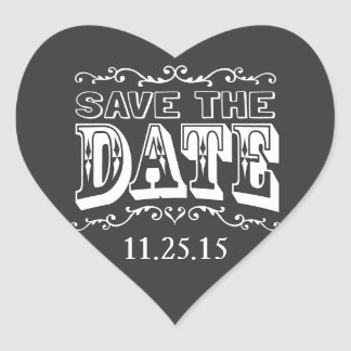 Chalkboard Save the Date Wedding Stickers