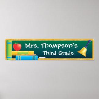 Chalkboard School Banner Poster