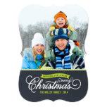 Chalkboard Script Christmas Photo Card Custom Announcements