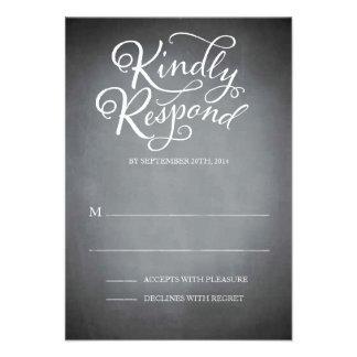 Chalkboard Script White Response Announcements