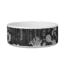 chalkboard scripts french botanical art ivy leaves bowl