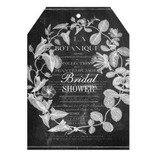 chalkboard scripts french botanical art ivy leaves card