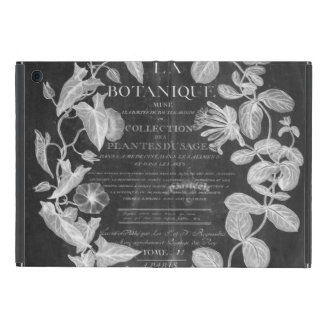 chalkboard scripts french botanical art ivy leaves case for iPad mini