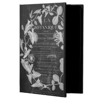 chalkboard scripts french botanical art ivy leaves iPad air cover