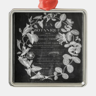 chalkboard scripts french botanical art ivy leaves metal ornament
