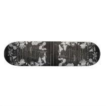 chalkboard scripts french botanical art ivy leaves skateboard deck