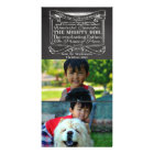 Chalkboard Scripture Christian Christmas 2 Pic Customized Photo Card