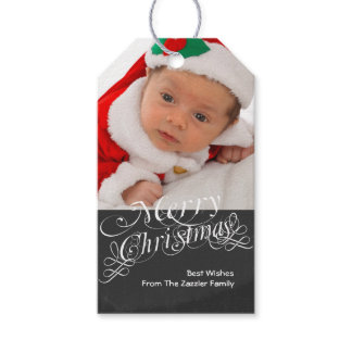 chalkboard Scroll Font Personalized Pack Of Gift Tags
