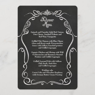 formal dinner event menus zazzle