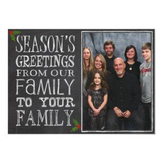 Chalkboard Season's Greetings Card