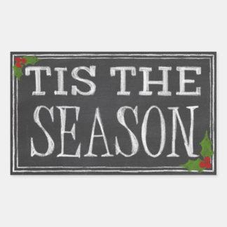 Chalkboard Season's Greetings Rectangular Sticker