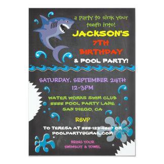 shark party invitations & announcements | zazzle, Party invitations